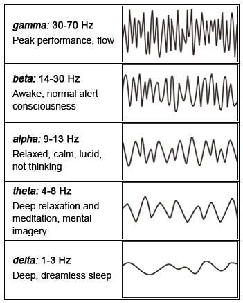 human brainwave frequencies chart